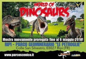 MOSTRA: WORLD OF DINOSAURS RIPI
